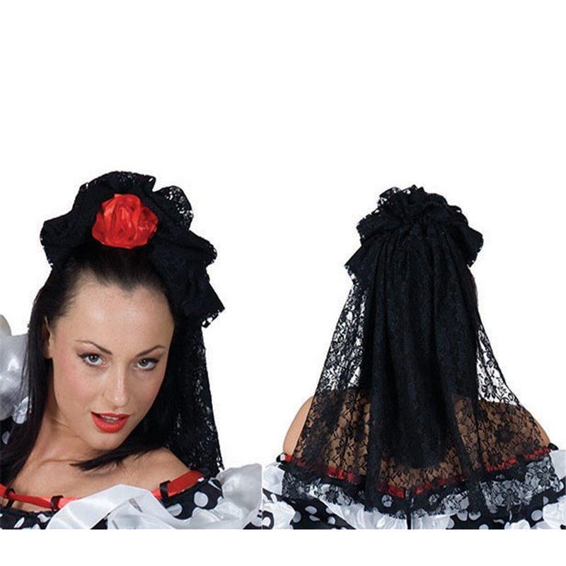 Barrette espagnole pour cheveux avec voile