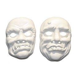 Masque coque à peindre monstre blanc