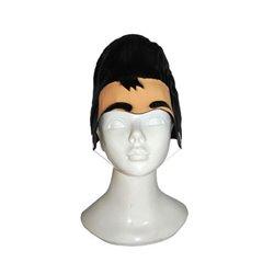 Perruque Elvis avec sourcils
