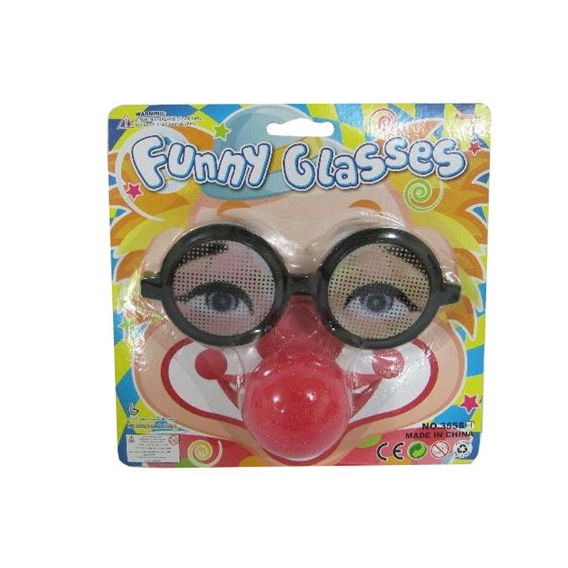 Lunettes gag avec nez rouge