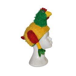 Bonnet Peluche Coq en Polyester