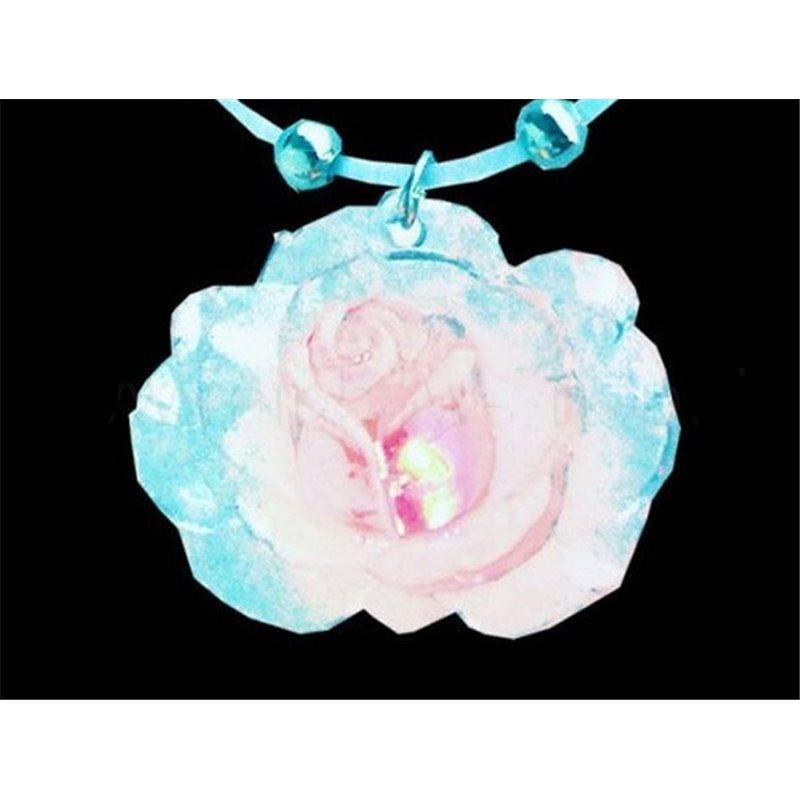 Pendentif LED lumineux rose bleue