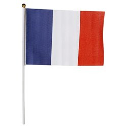 Drapeau France sur bâton 30 x 45cm