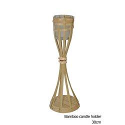 Lampe Torche de Table en Bambou