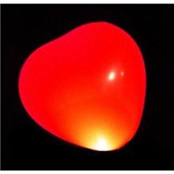 Ballon Led Coeur Rouge (lot de 5)