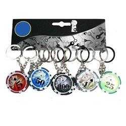 Porte-clés Jeton de Poker Personnalisable avec logo