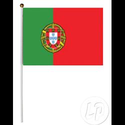 Drapeau Portugal sur bâton 30 x 45 cm