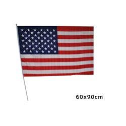 Drapeau USA avec Bâton