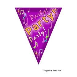 Guirlande avec 10 Fanions Party 5 m