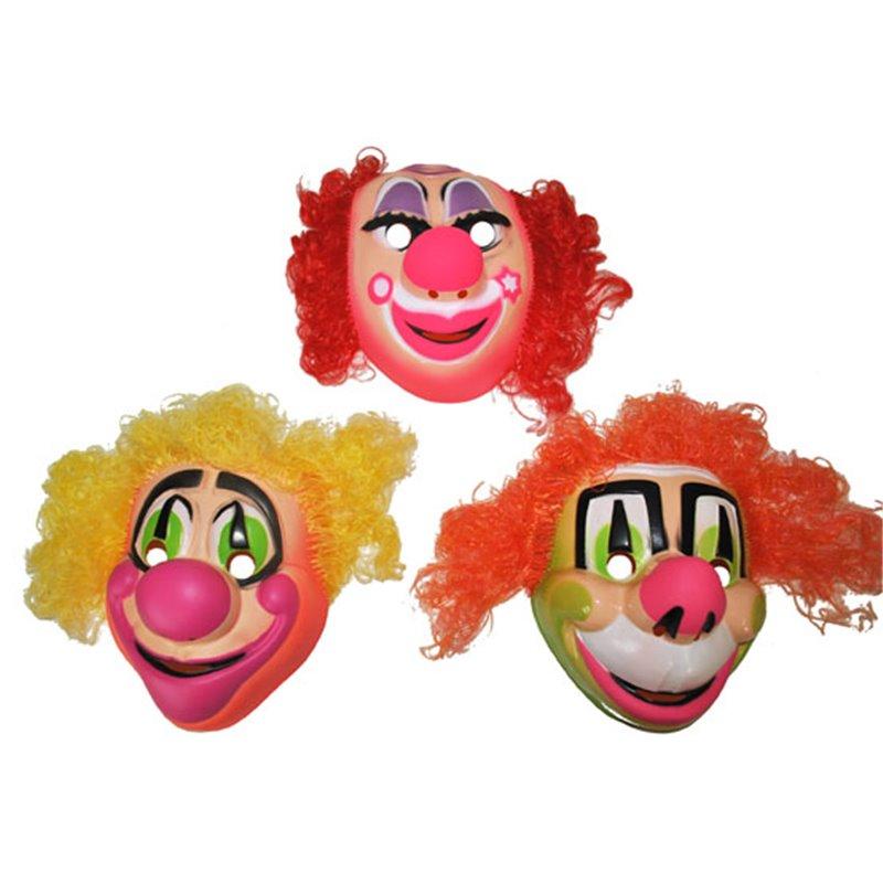 Masque Coque de Clown avec Cheveux