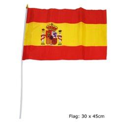 Petit Drapeau Espagne en Synthétique