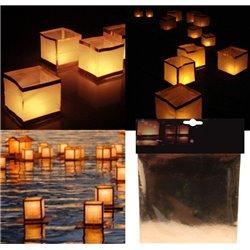 Lanterne Asiatique Flottante Cube 15 cm