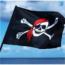 Drapeau de Pirate Tête de Mort avec Bandana