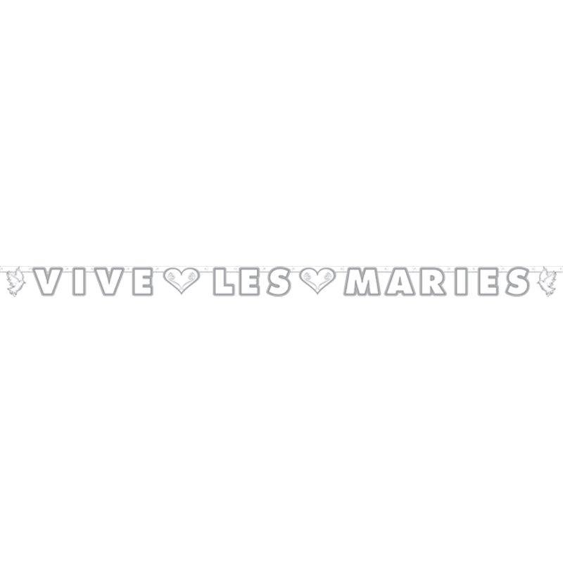 """Guirlande """"Vive les mariés""""  2 m 25"""