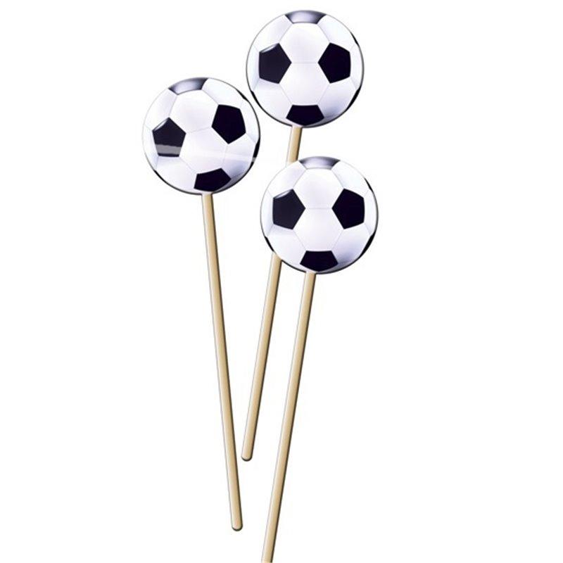 Lot de 8 Piques Apéritifs Ballon de Foot
