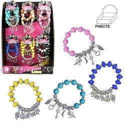 Bracelet avec Perles en Plastique aux Différentes Couleurs