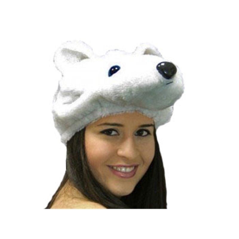 Bonnet Peluche Ours Blanc