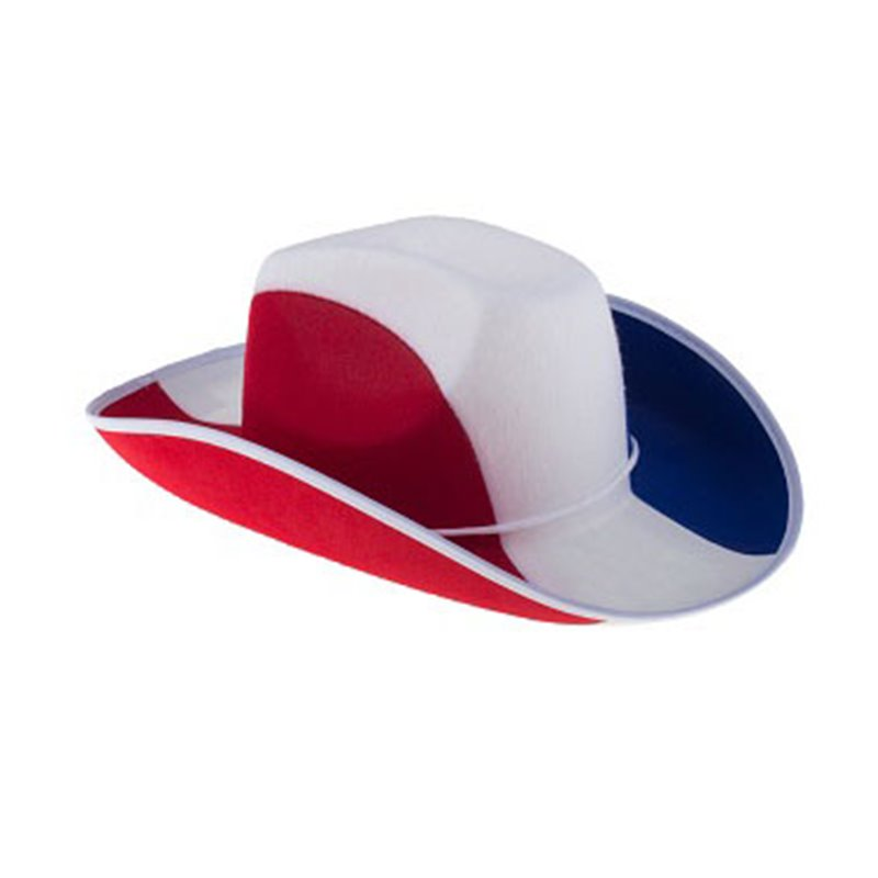 Chapeau de Cowboy aux Couleurs du Drapeau Français