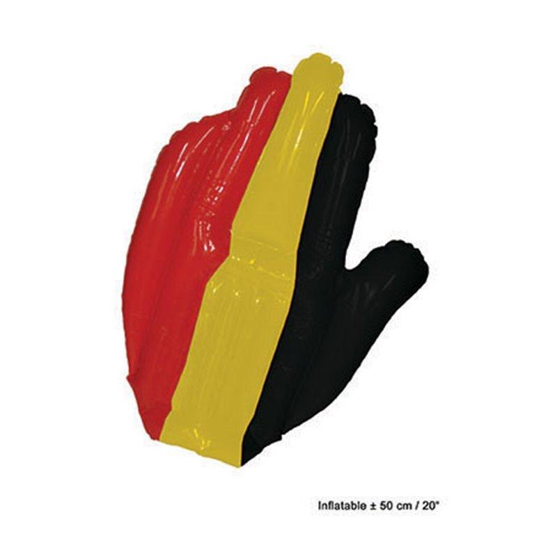 Main Gonflable aux Couleurs de la Belgique en Polyester
