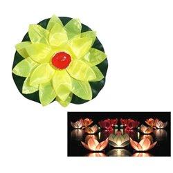 Fleur de Lotus Nénuphar Flottante avec Bougie