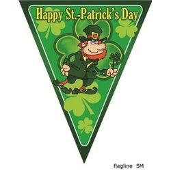 Guirlande avec 10 Fanions Saint Patrick