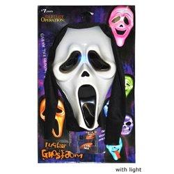 Masque Scream Lumineux avec Capuche pour Adulte