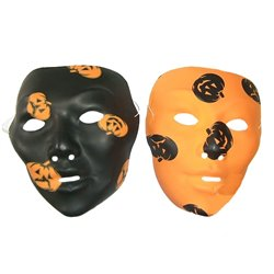 Masque Coque Halloween Noir et Orange
