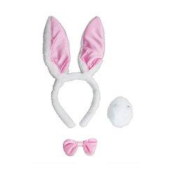 Kit de Déguisement de Lapin Bunny de Couleur Rose