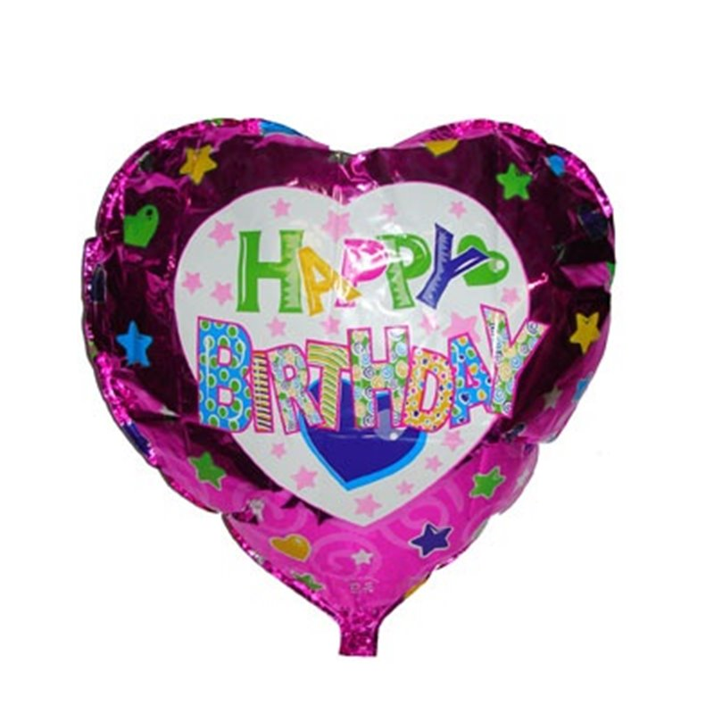 Ballon Happy Birthday en Aluminium 45 cm