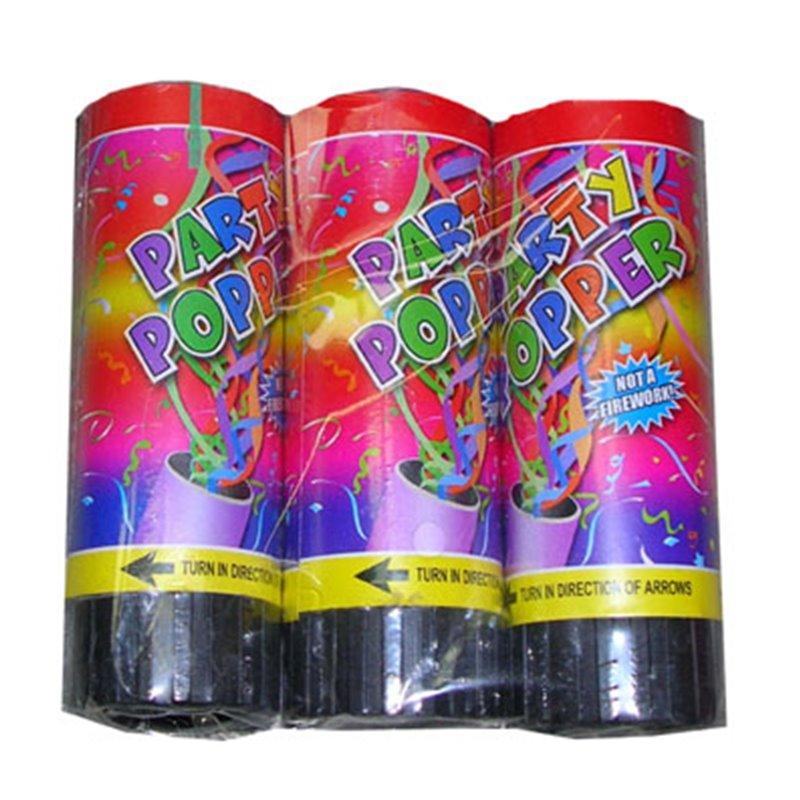 Lot de 3 Bombes à Confettis de Table Premium
