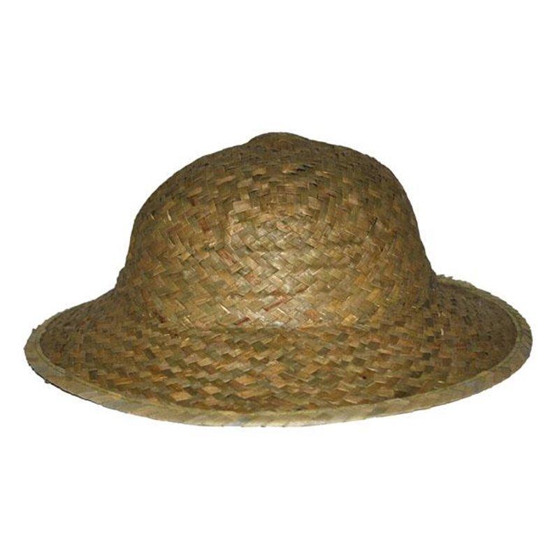 Chapeau d'Aventurier Colonial en Paille