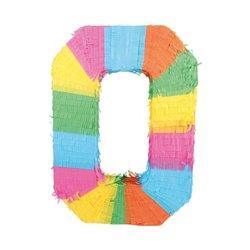 Pinata chiffre multicolore 50 cm