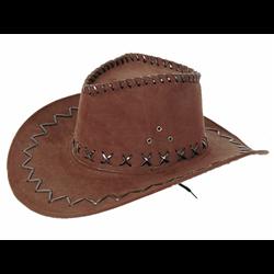 Chapeau de Cowboy Imitation Cuir de Différentes Couleurs