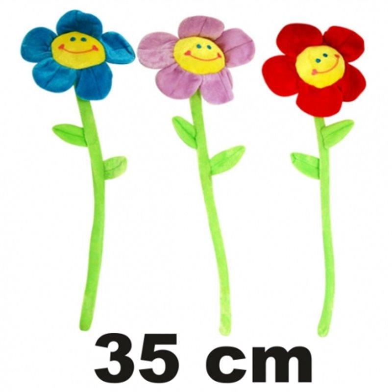 Fleur en Peluche de Hauteur Différente
