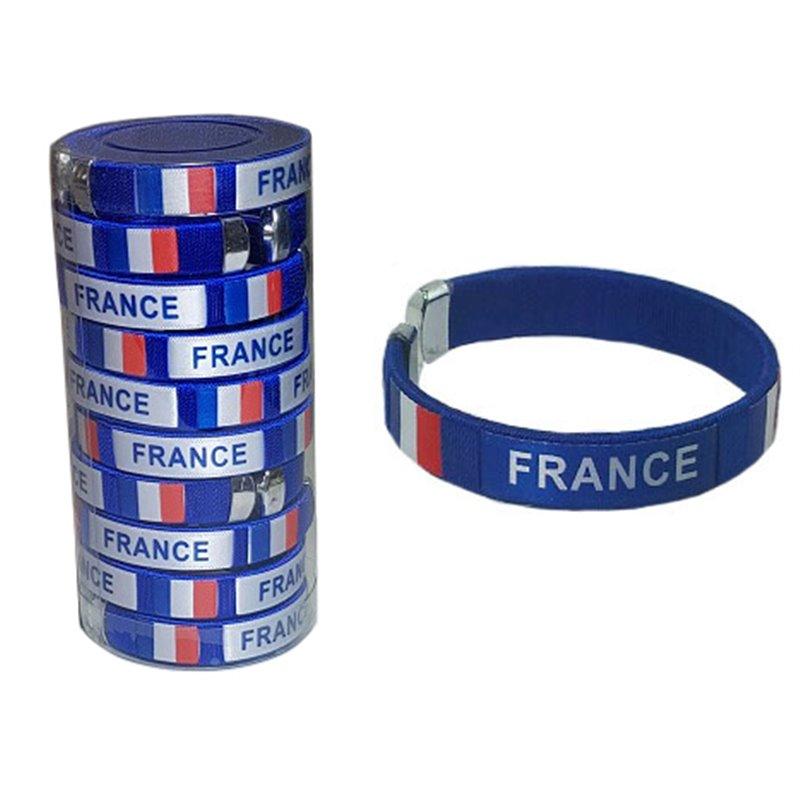 Lot de 10 Bracelets Espagne France et Portugal