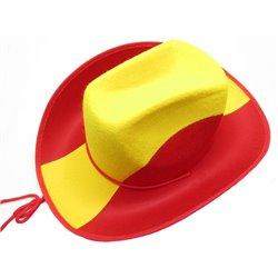 Chapeau de Cow-boy Couleurs Pays en Feutrine