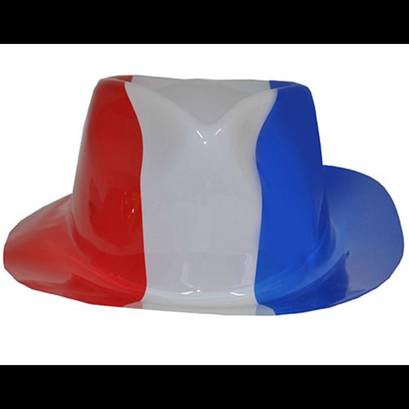 Chapeau Borsalino en PVC aux Couleurs de Différents Pays