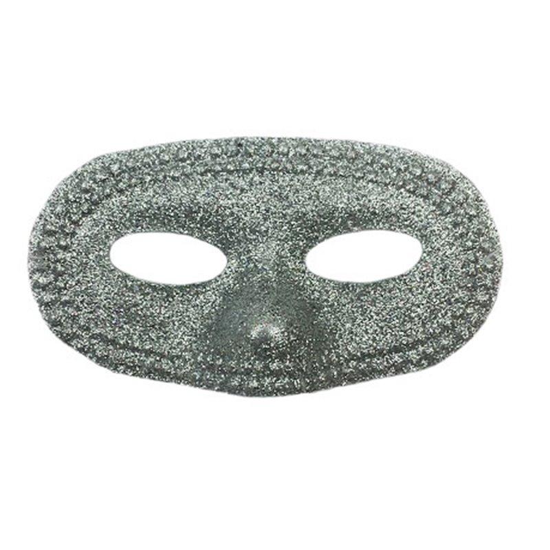 Masque de loup rond à paillettes Mix