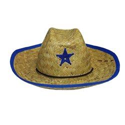 Chapeau de Paille Cowboy avec Etoile