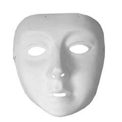 Masque coque à peindre visage blanc