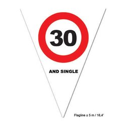 Guirlande 10 fanions signalisation 5 m