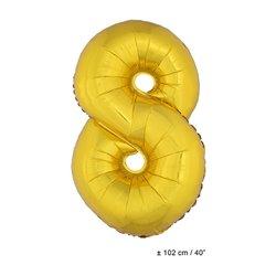 Ballon Chiffre 0 à 9 Doré 1 mètre
