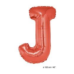Ballon Lettre A à Z en Aluminium Rouge 102 cm