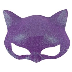 Demi-Masque de Chat à Paillettes