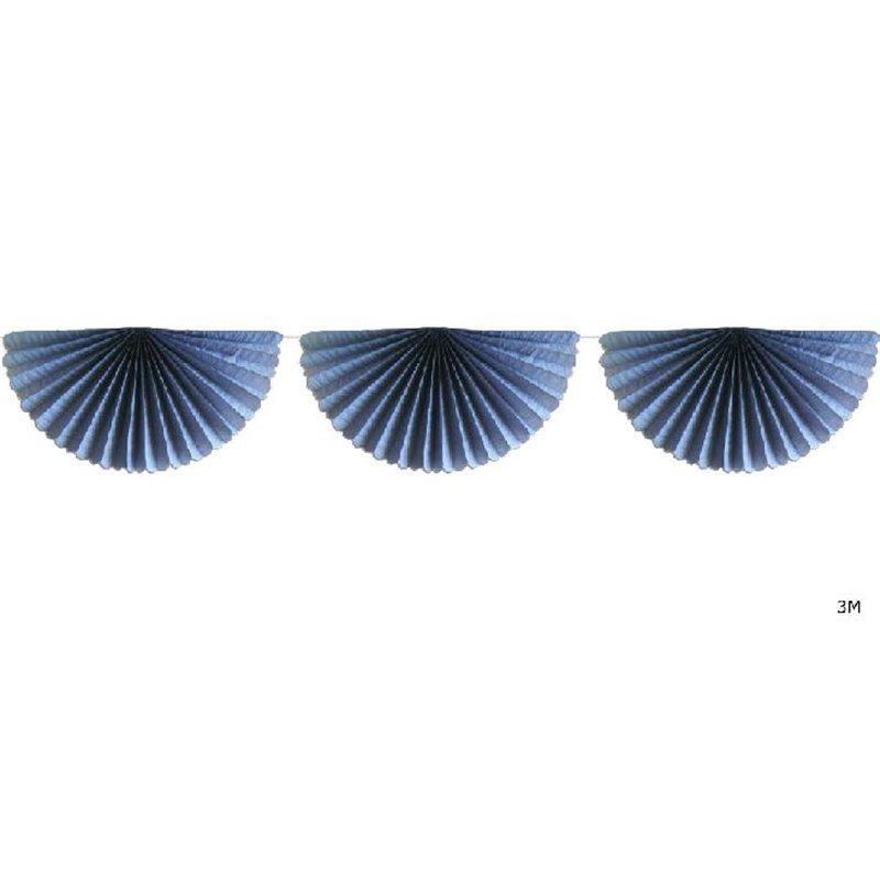 Guirlande avec 7 éventails 3 m en Divers Coloris