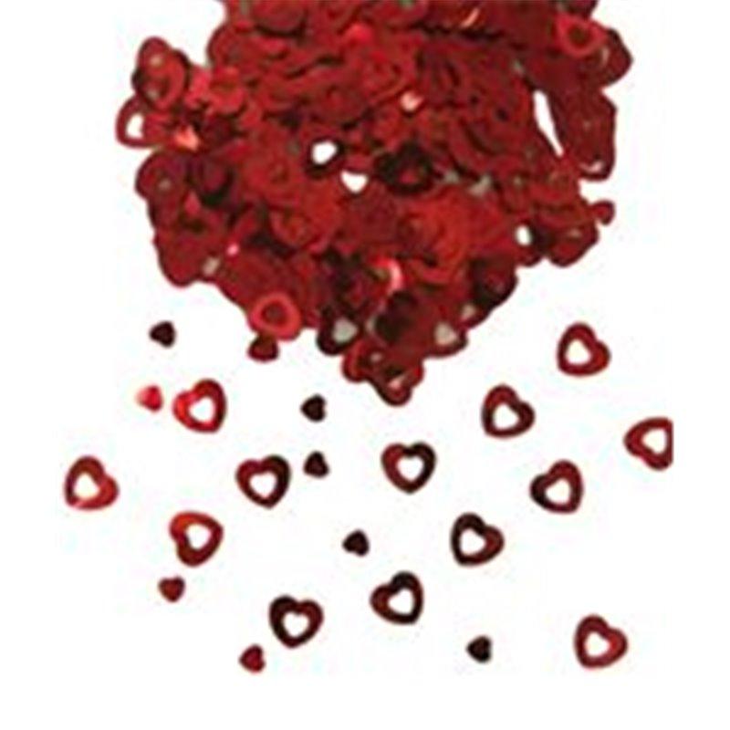 Confettis de Table en Forme de Cœur Blanc et Argenté