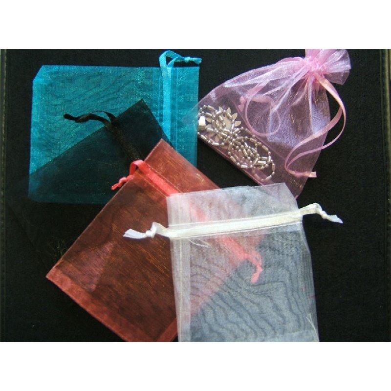 Lot de 10 Pochettes pour Dragées Tulle de Coloris Différents