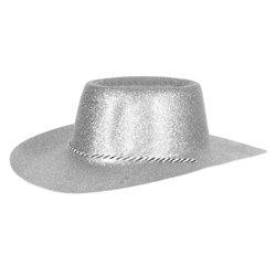 Chapeau de cowboy à paillettes en PVC