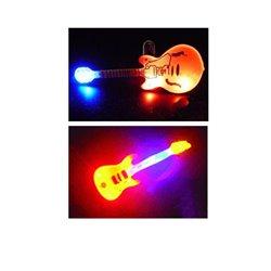 Badge Led Magnétique en Forme de Guitare de Coloris Différents