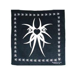 Bandana avec motif tribal noir et blanc